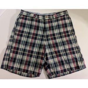 J.Crew Multicolor Plaid Madras Shorts Sz 35 Cotton